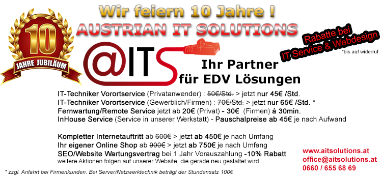 10 Jahre Austrian IT Solutions