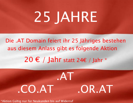 25 Jahre .at Domains